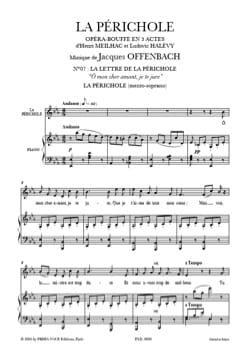 Jacques Offenbach - O my dear lover, I swear to you. the Périchole - Sheet Music - di-arezzo.co.uk