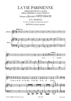 Jacques Offenbach - C'est Ici, l'endroit Redouté des Mères. La Vie Parisienne - Partition - di-arezzo.fr
