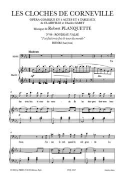 Robert Planquette - J'ai Fait 3 Fois le Tour Du Monde. les Cloches de Corneville - Partition - di-arezzo.fr