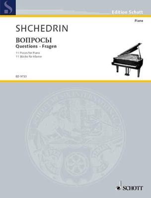Questions Rodion Chedrin Partition Piano - laflutedepan