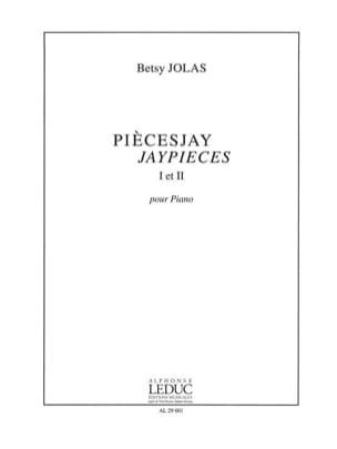 PIECESJAY 1 et 2 Betsy Jolas Partition Piano - laflutedepan