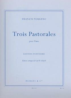 3 Pastorales Francis Poulenc Partition Piano - laflutedepan