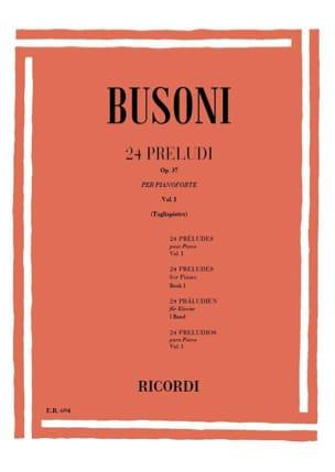 Ferruccio Busoni - 24 Preludes Op. 37 Vol 1 - Sheet Music - di-arezzo.com