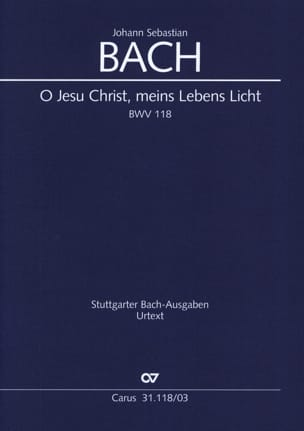 BACH - Motet BWV 118: O Jesus Christ, Meins Lebens Licht - Partition - di-arezzo.co.uk