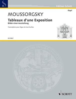 Modest Moussorgsky - Tableaux D'une Exposition. - Partition - di-arezzo.fr