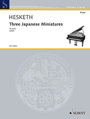 Kenneth Hesketh - 3 Japanese Miniatures - Partition - di-arezzo.fr