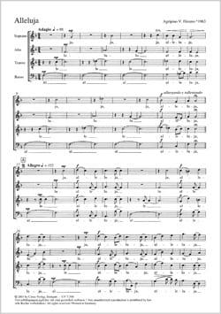 Alleluia - Agripino Diestro - Partition - Chœur - laflutedepan.com