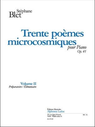 30 Poèmes Microcosmiques Op. 41 Vol 2 - laflutedepan.com