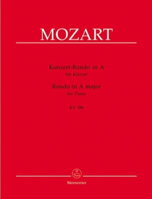 Concert Rondo En la Majeur K 386 - MOZART - laflutedepan.com