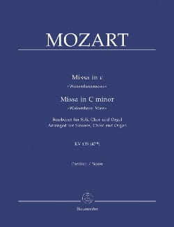 MOZART - Missa Solemnis K 139. Version Orgue - Partition - di-arezzo.fr