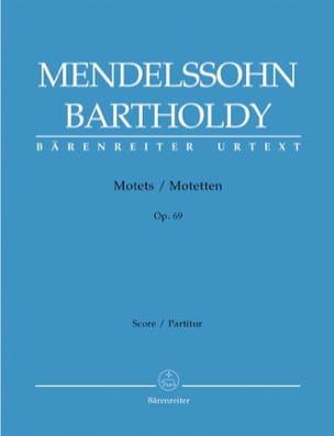 Félix MENDELSSOHN - 3 Motets Opus 69 - Partition - di-arezzo.fr