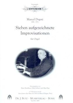 Marcel Dupré - 7 Aufgezeichnete Improvisationen - Partition - di-arezzo.fr