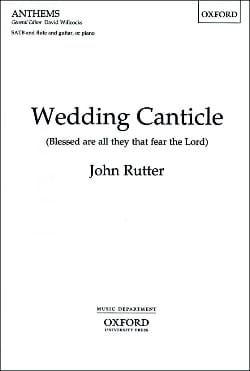 John Rutter - Wedding Canticle - Partition - di-arezzo.fr