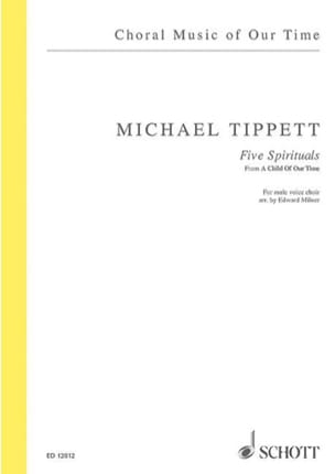 5 Spirituals - Michael Tippett - Partition - Chœur - laflutedepan.com