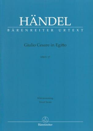 HAENDEL - Giulio Cesare In Egitto. HWV 17 - Partition - di-arezzo.fr