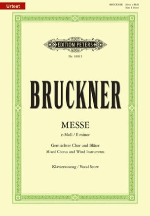 Anton Brückner - Mass In E Minor Wab 27 - Sheet Music - di-arezzo.co.uk