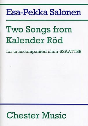 Esa-Pekka Salonen - 2 Songs From Kalender Röd - Partition - di-arezzo.fr