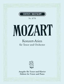 Konzert-Arien Ténor MOZART Partition Mélodies - laflutedepan