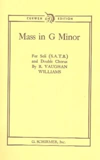 Williams Ralph Vaughan - Mass In G Minor - Sheet Music - di-arezzo.com