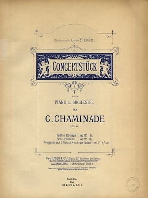 Konzertstück Op. 40. 2 Pianos - Cécile Chaminade - laflutedepan.com