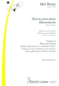 Mel Bonis - Piano Works Volume 4: Concert Pieces - Sheet Music - di-arezzo.co.uk