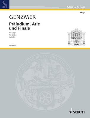 Präludium, Arie Und Finale Harald Genzmer Partition laflutedepan