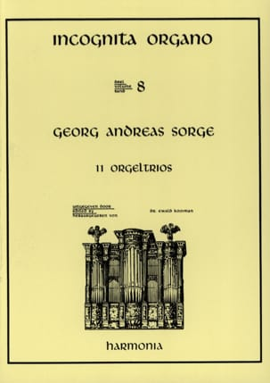 11 Orgeltrios Georg Andreas Sorge Partition Orgue - laflutedepan