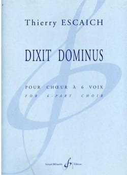 Thierry Escaich - Dixit Dominus - Sheet Music - di-arezzo.co.uk