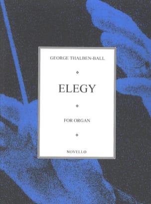 Georg Thalben-Ball - Elegy - Partition - di-arezzo.fr