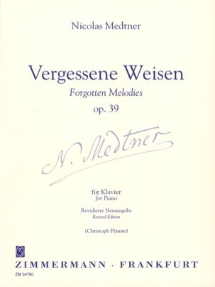 Nicolai Medtner - Vergessene Weise Op. 39 - Partition - di-arezzo.fr