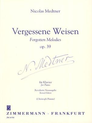 Vergessene Weise Op. 39 Nicolai Medtner Partition Piano - laflutedepan