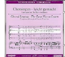MENDELSSOHN - Lobgesang Op. 52. CD Alto - Partition - di-arezzo.fr