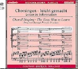 Félix MENDELSSOHN - Paulus Opus 36. 2 CD Soprano - Partition - di-arezzo.fr