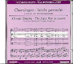 MENDELSSOHN - Die Erste Walpurgisnacht Op. 60. CD Alto - Partition - di-arezzo.fr