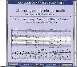 MENDELSSOHN - Die Erste Walpurgisnacht Op. 60. CD Ténor - Partition - di-arezzo.fr