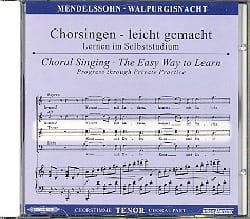 Félix MENDELSSOHN - Die Erste Walpurgisnacht Op. 60. CD Ténor - Partition - di-arezzo.fr