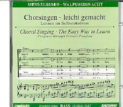 MENDELSSOHN - Die Erste Walpurgisnacht Opus 60 Cd Basse - Partition - di-arezzo.fr