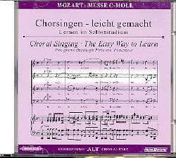 Grande Messe En Ut Mineur K 427. CD Alto. MOZART laflutedepan