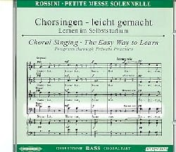 Petite Messe Solennelle. CD Basse ROSSINI Partition laflutedepan