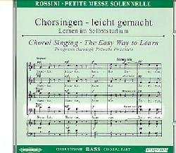 Gioachino Rossini - Petite Messe Solennelle. CD Basse - Partition - di-arezzo.fr
