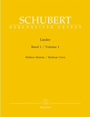 SCHUBERT - Lieder Volume 1. Average Voice - Sheet Music - di-arezzo.com