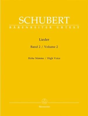 Franz Schubert - Lieder Volume 2. Voix Haute - Partition - di-arezzo.fr