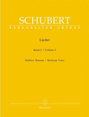 Lieder Volume 2. Voix Moyenne SCHUBERT Partition laflutedepan