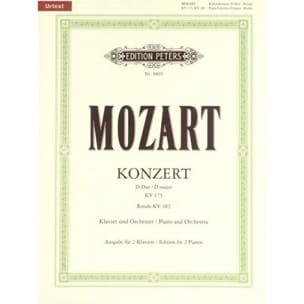MOZART - Concerto Pour Piano N° 5 en Ré majeur K 175 et Rondo K 282 - Partition - di-arezzo.fr