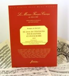 Bénigne de Bacilly - Livre de Chansons Pour Danser et Pour Boire - Partition - di-arezzo.fr