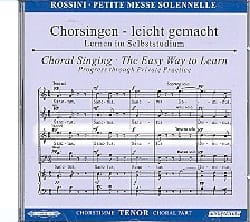 Gioachino Rossini - Petite Messe Solennelle. CD Ténor - Partition - di-arezzo.fr