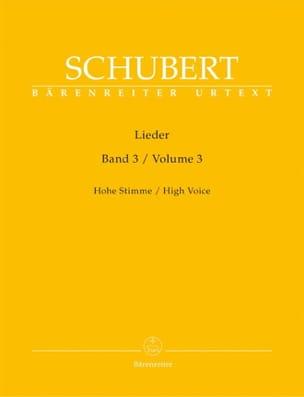 SCHUBERT - Lieder Volume 3. Voix Haute. - Partition - di-arezzo.fr