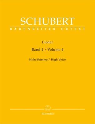 Franz Schubert - Lieder Volume 4. Voix Haute - Partition - di-arezzo.fr