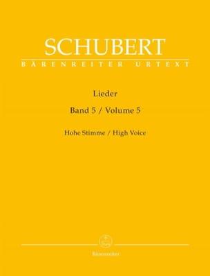 Franz Schubert - Lieder Volume 5. Voix Haute - Partition - di-arezzo.fr