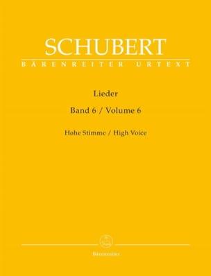 Franz Schubert - Lieder Volume 6. Voix Haute - Partition - di-arezzo.fr
